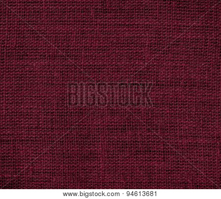 Dark scarlet burlap texture background