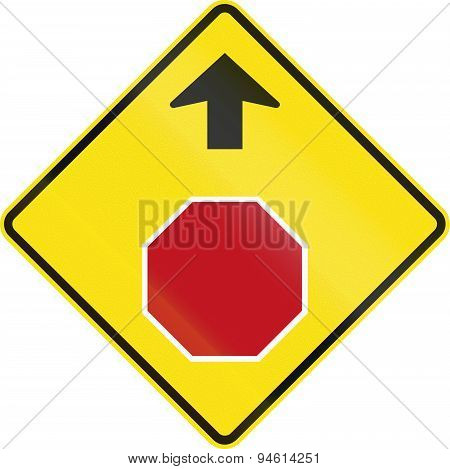 Stop Ahead In Austrialia