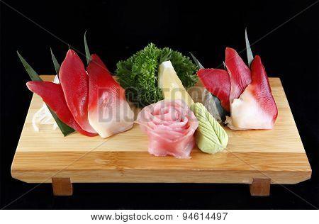 Sashimi Of Sea Clams Or Hottkigai