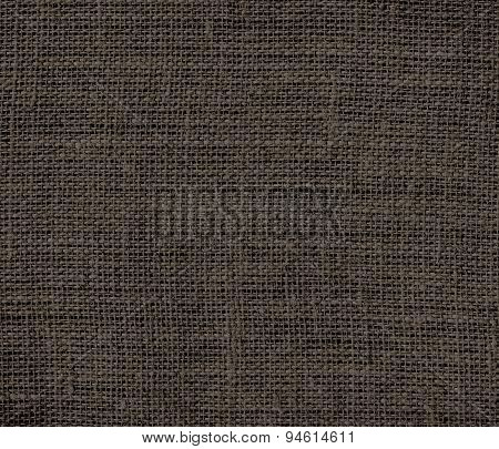 Dark taupe burlap texture background