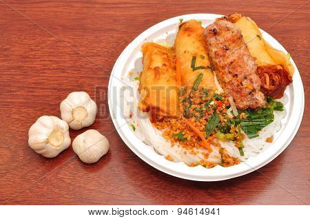 Vietnamese Vermicelli with grilled pork or Bun Thit Nuong