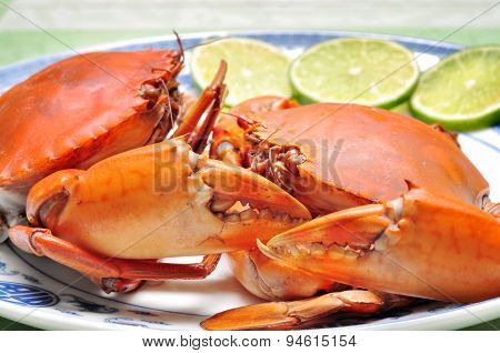 Crab from the Mekong delta on the dish