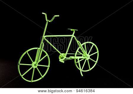 Green Ancient  Bicycle