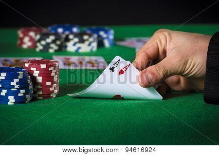 Double Ace In Poker