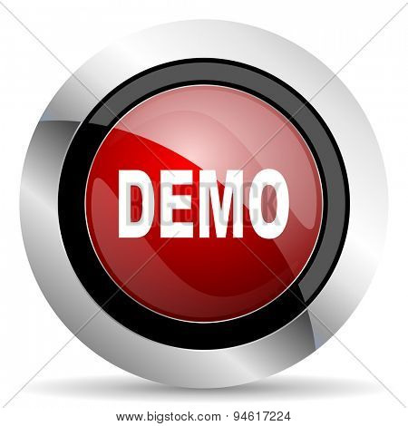 demo red glossy web icon original modern design for web and mobile app on white background