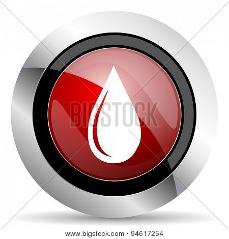 water drop red glossy web icon original modern design for web and mobile app on white background
