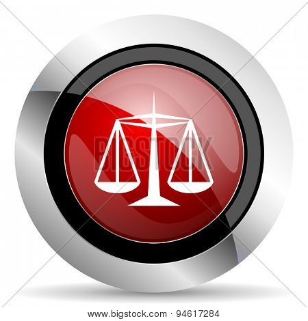 justice red glossy web icon original modern design for web and mobile app on white background