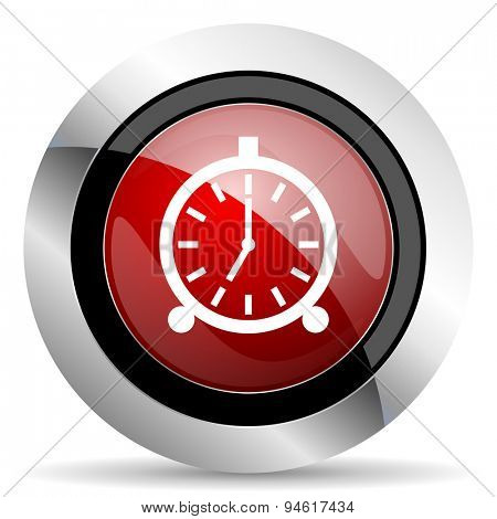 alarm red glossy web icon original modern design for web and mobile app on white background