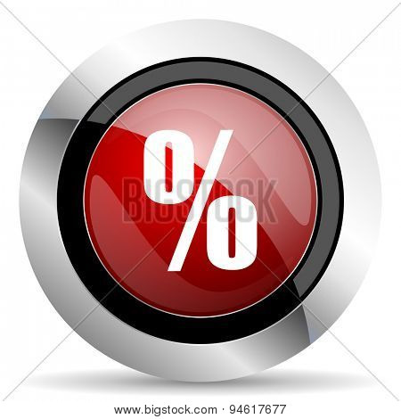 percent red glossy web icon original modern design for web and mobile app on white background