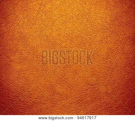 Dark orange leather texture background