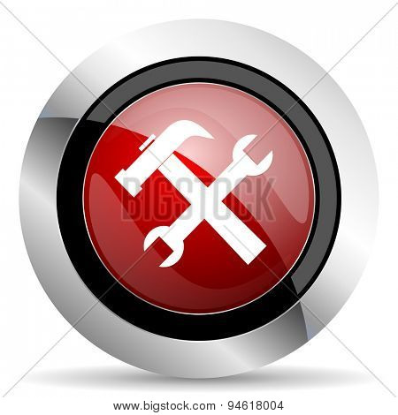 tool red glossy web icon original modern design for web and mobile app on white background