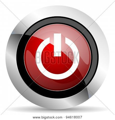 power red glossy web icon original modern design for web and mobile app on white background