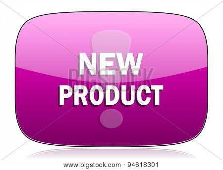 new product violet icon  original modern design for web and mobile app on white background with reflection