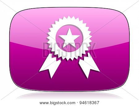 award violet icon prize sign original modern design for web and mobile app on white background with reflection