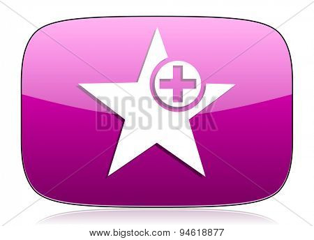 star violet icon add favourite sign original modern design for web and mobile app on white background with reflection