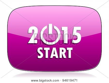 new year 2015 violet icon new years symbol original modern design for web and mobile app on white background with reflection