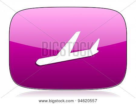arrivals violet icon plane sign