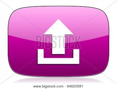 upload violet icon