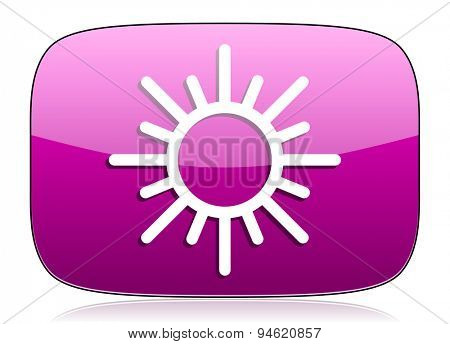 sun violet icon waether forecast sign