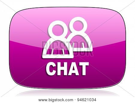 chat violet icon
