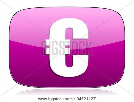 euro violet icon