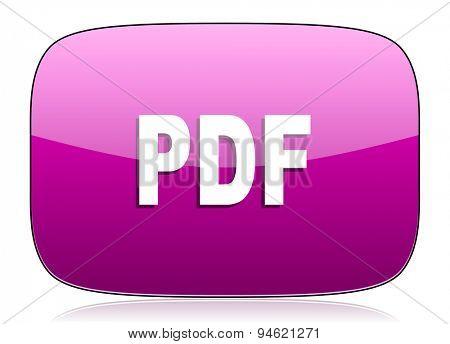pdf violet icon