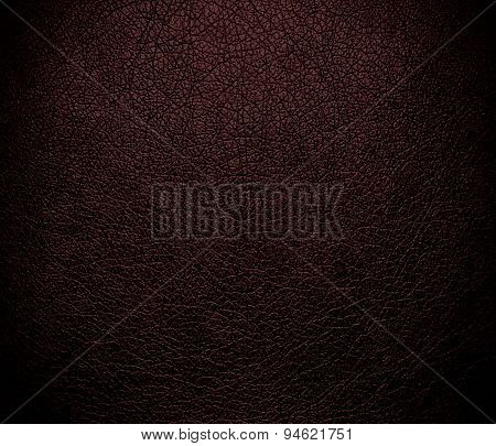 Dark sienna leather texture background