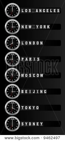Zona horaria reloj