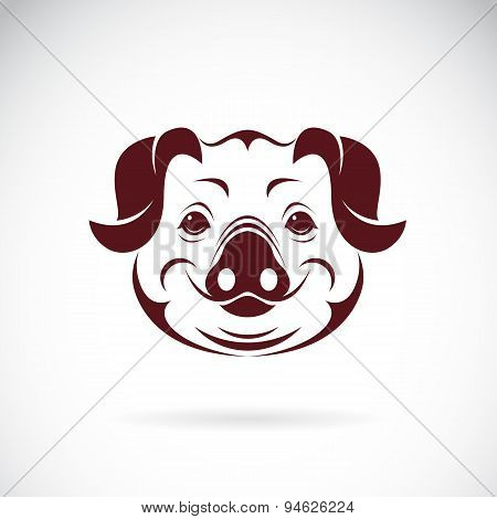 Vector Image Of An Pig Head On White Background
