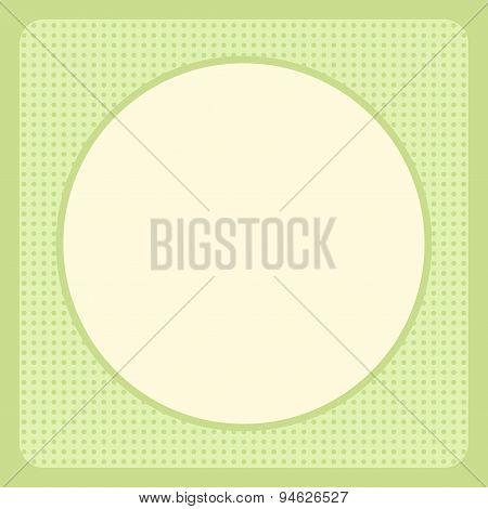 Green Greeting Card Template Design