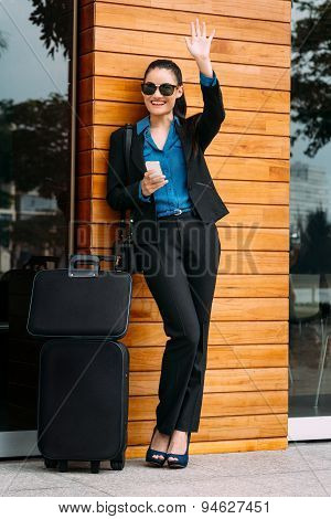 Cheerful Young Business Lady