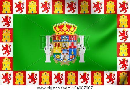 Province Of Cadiz Flag, Spain.