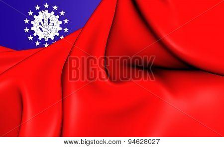 Flag Of Myanmar (1974-2010)