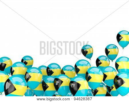 Flying Balloons With Flag Of Bahamas