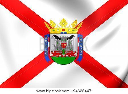Flag Of The Vitoria-gasteiz, Basque Country.