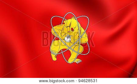 Flag Of Zheleznogorsk, Russia.