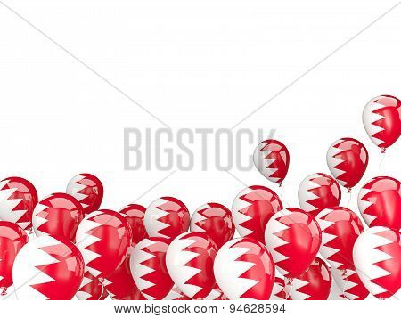 Flying Balloons With Flag Of Bahrain