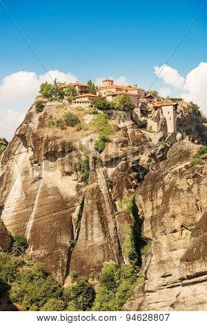 The Holy Monastery Of Great Meteoron In Greece.