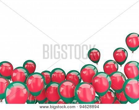 Flying Balloons With Flag Of Bangladesh