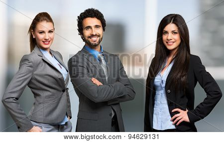 Small group of business people