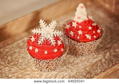 Two Red Cupcakes