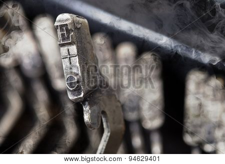 E Hammer - Old Manual Typewriter - Mystery Smoke