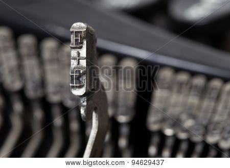 F Hammer - Old Manual Typewriter