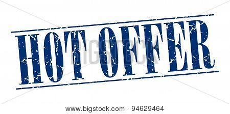 Hot Offer Blue Grunge Vintage Stamp Isolated On White Background