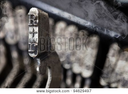 R Hammer - Old Manual Typewriter - Mystery Smoke