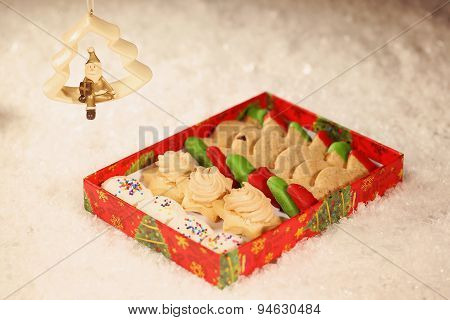 Christmas Cookies With Snow