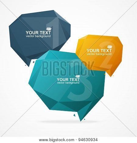 Vector Geometric Bubble Text Menu