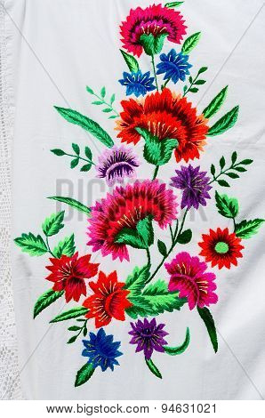 Belarus, Gomel, City Of Masters Event. Embroidery Stitch