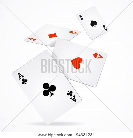 Vector Playing Poker Cards Poster