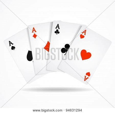 Vector Playing Poker Cards